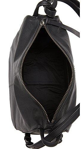 Borsa a secchiello DKNY in pelle nera