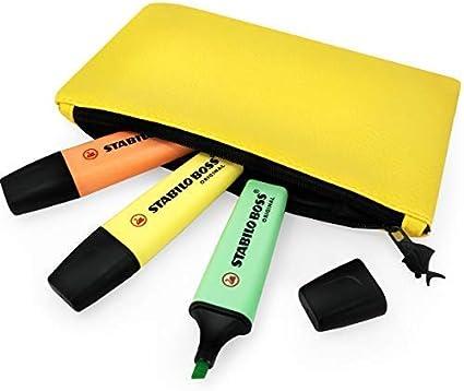 Stabilo Boss Original Pastel Subrayadores Rotuladores – Melocotón, Menta, Amarillo + Grasa Vientre Pez Pastel Amarillo Estuche: Amazon.es: Oficina y papelería