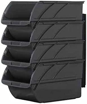 Stanley Juego de Cajas de Almacenamiento Abiertas 1-94-469 4 Unidades m/ás list/ón de Pared