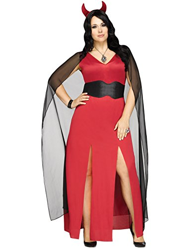 Fun World Devilicious Womens Devil Lucifer Halloween Costume, Multi, Plus Size