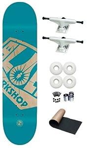 Alien Workshop OG Logo 8.0 Skateboard Deck Complete With White Trucks by Alien Workshop