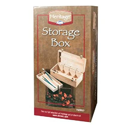 Merveilleux Heritage Elmwood Art Supply Storage Box