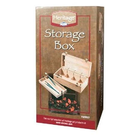 Heritage Elmwood Art Supply Storage Box By Alvin