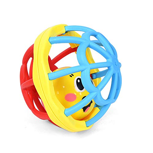 Tcplyn 1 Pcs Baby Rattles Ball Kids Musical Hand Shaker Bell Soft Rubber Gift Toys ()