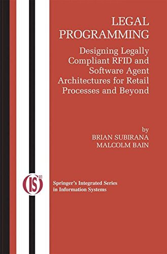 Download Legal Programming: 4 (Integrated Series in Information Systems) Pdf