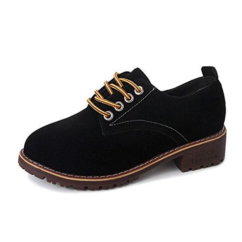 Flache Schuhe,England Wind Frauenschuhe, Casual Shoes Retro Studenten,Vielseitige Damenschuhe A
