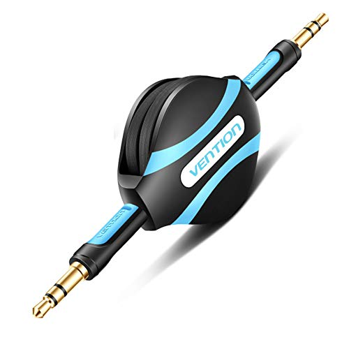 (Vention Retractable 3.5mm Aux Cable,3.5 Male to Male Stereo Audio Cable for Car,Speaker,iPhone,Android Phones(Black))