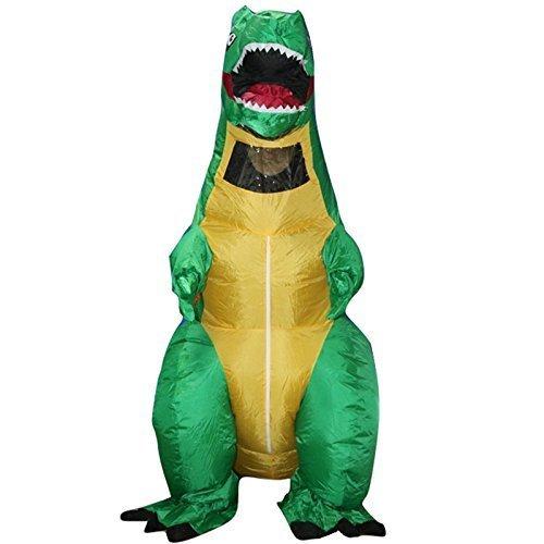 Traje de disfraz de dinosaurio para Halloween, talla única, hinchable