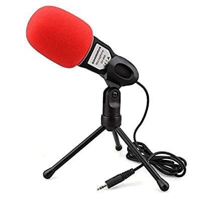 Professional Stereoscopic Condenser Sound Microphone With Stand for PC Laptop Skype MSN QQ Recording Black from Soonhua
