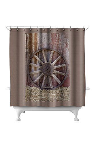 Wagon Wheel (71x74 Polyester Shower (Pottery Wagon Wheel)