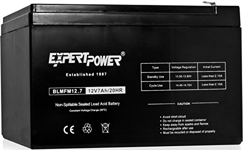 1 Cp Battery - ExpertPower 12V 7 Amp EXP1270 Rechargeable Lead Acid Battery