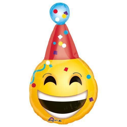 Anagram 33629 Birthday Emoticons Foil Balloon 25 Multicolored