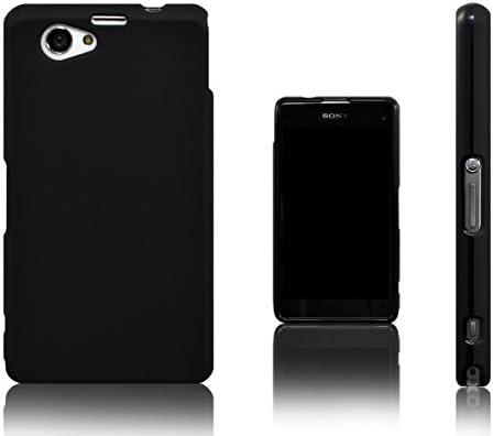 Xcessor Vapour Funda Carcasa de TPU Gel Flexible Para Sony Xperia Z1 Compact. Negro