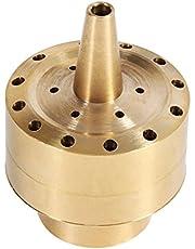 Brass Column Fireworks Water Fountain Nozzle Sprinkler Golden Garden Pond Fountain Water Spray Head