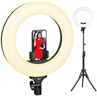 ESDDI 14inch Outer Adjustable YouTube Makeup Dimmable Video LED Light Kit with Stand