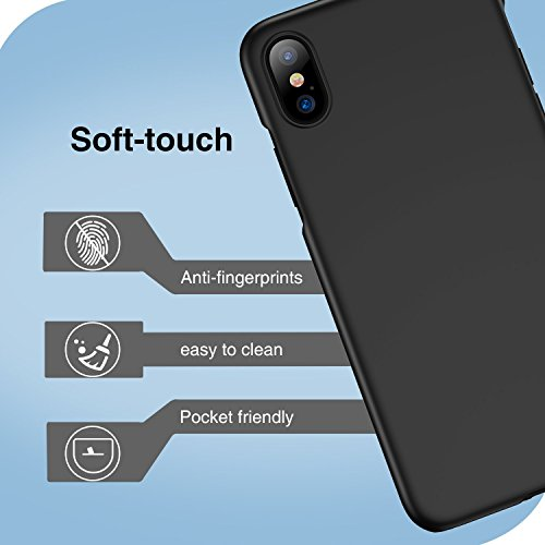 Anti Protection X iPhone Cover Transparente Rayure Case Silicone Apple Noir Antichoc PC Crystal iPhone Mince X Anti Ultra Souple Housse 10 Coque Fine 10 Rouge Scratch iPhone Noir iPhone 85Awq1