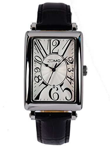ZOMO-Mens-SG3655-Analog-Display-stainless-steel-Swiss-Quartz-Fashion-waterproof-wrist-watch-black-leather-strap