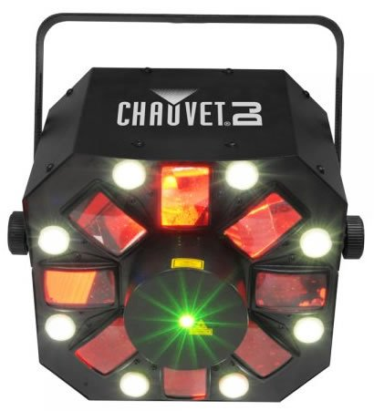 CHAUVET DJ Swarm 5FX 3-in-1 LED Strobe, Laser, Derby Effect Light | Laser & Strobe ()