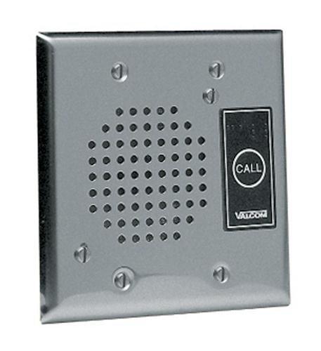 (VALCOM V-1072A-ST Talkback Doorplate Speaker - Stnless)