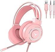 GUANGE Fone de ouvido estéreo 4D para jogos, fones de ouvido para jogos com microfone, fones de ouvido para PC