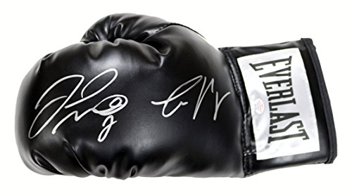 Floyd Mayweather Jr. and Conor McGregor Signed Autographed Black Everlast Boxing Glove PAAS COA (Boxing Floyd Mayweather Jr Vs Conor Mcgregor)