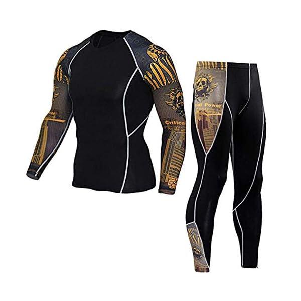 Mens-Gym-Running-Fitness-Kit-Compression-Pants-Shirt-Top-Long-Sleeve-Jacket-Set-2-PCS-Workout-Outfit-Set