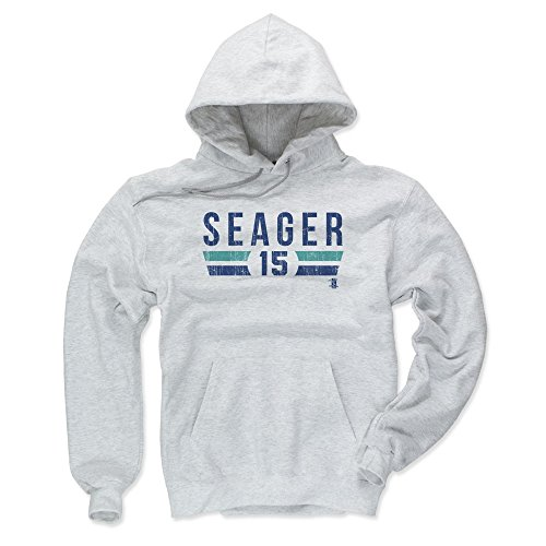 500 LEVEL Seattle Mariners Men's Hoodie - XXX-Large Ash - Kyle Seager Font ()