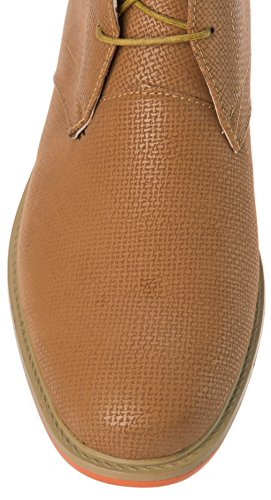 Js Sveglio Mens Lace Up Chukka Boot Pelle Pu Anson69tan