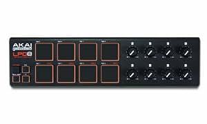 AKAI Professional LPD8 - Controlador USB MIDI portátil con 8 pads y potenciómetros, para cualquier DAW e instrumento virtual, Mac y PC