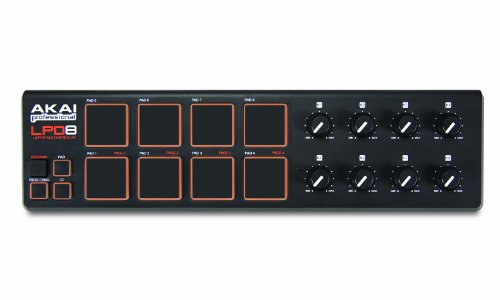 Akai Professional LPD8 | Ultra-Portable USB Drum Pad MIDI Controller for Laptops (8 Pads / 8 Knobs) by Akai Professional