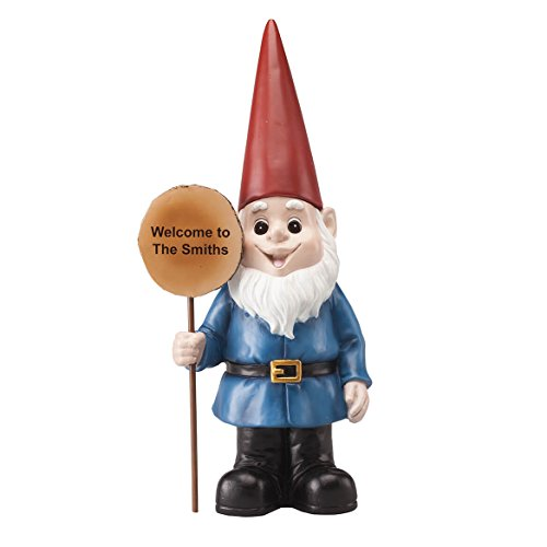 (Fox Valley Traders Personalized Resin Garden Gnome)