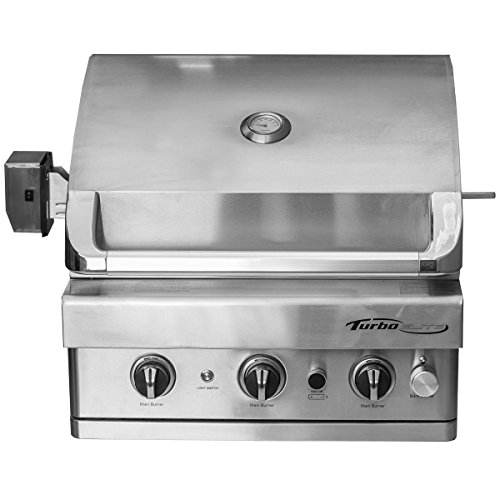 Turbo Elite 3-burner Built-in Gas Grill Fuel Type: Natural Gas Barbeques Galore