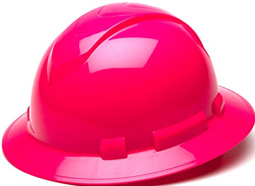 Pyramex Ridgeline Full Brim Hard Hat, 4-Point Ratchet