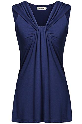 Women's Blouse Sleeveless (Blue) - 3