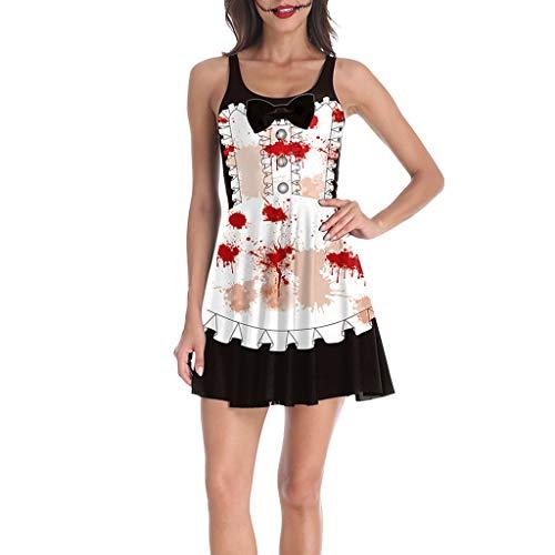 Ursula Costumes Ideas - KLFGJ Women Halloween Dress Sleeveless Blood