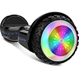 Gyrocopters PRO 6.0 All-terrain Hoverboard - UL 2272 Certified with Bluetooth, LED Wheels, APP, No Fall Technology, Front and Back Lights, Free hoverboard bag (Black)