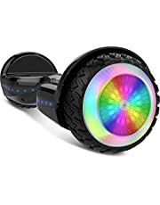 """Gyrocopters PRO 6.0 All Terrain Hoverboard - UL 2272 Certified with Bluetooth, 36V / 2.0Ah Powerful Battery, 6.5"""" LED wheels, APP, No Fall Technology, up to 12km/h speed & 10km range, Front and Back lights, Free Hoverboard Bag (Black)"""