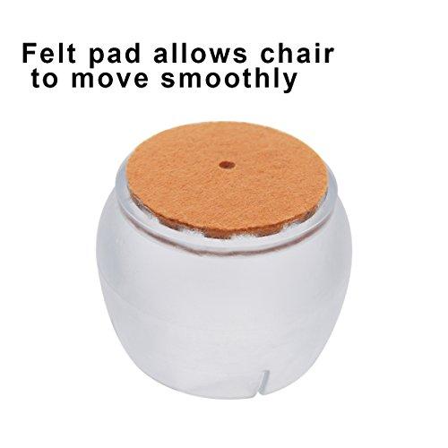Melonboat Chair Leg Feet Wood Floor Protectors Set