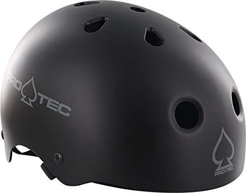 (ProTec Classic Matte Black Skate Helmet - Large / 22.8