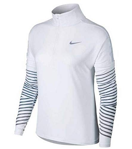 Nike Women's Dri-FIT Element Flash Running Top White/Armory Blue 856608-100 Size XL