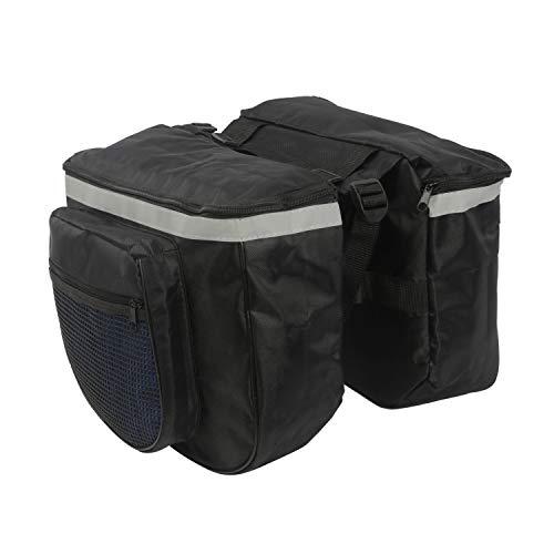 (TOURBON Nylon Cycling Bike Bicycle Pannier Rear Rack Bag Double Shopping Storage)