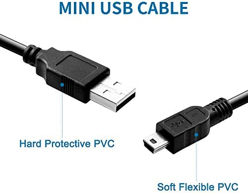 Mini USB Cable 10 FT2 PackAMale to MiniB Charger Cable for Texas Instruments TI84 Plus CE Graphing