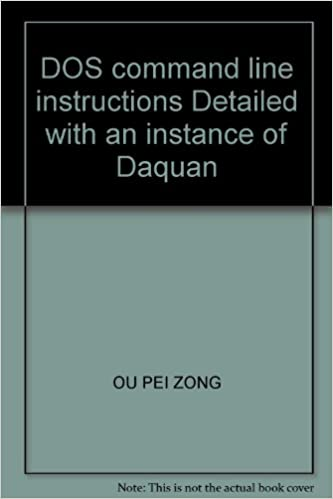 Dos Command Line Instructions Detailed With An Instance Of Daquan