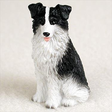 Border Collie Miniature Dog Figurine - Border Figurine
