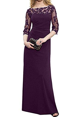 Etuikleider Abendkleider Marie Partykleider Braut Traube Fuchsia Langes La Brautmutterkleider Damen wYXvxqdP