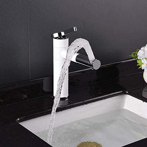 WXQ-XQ エレガントな白い銅の浴室回転流域の蛇口ホームホテルでは暖かい調整単穴洗面の蛇口美しく実用的なペイント
