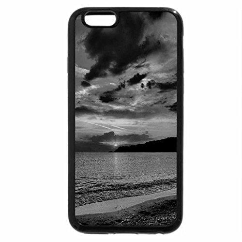 iPhone 6S Plus Case, iPhone 6 Plus Case (Black & White) - Orange sun