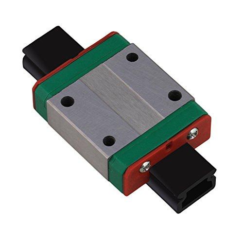 CNBTR MGN12C Mini Bearing Steel Linear Sliding Guideway Rail Block Silver for Precise Measurement Equipment