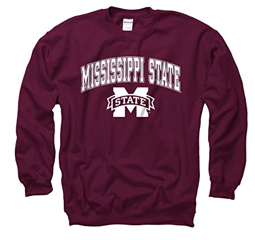 Campus Colors Mississippi State Bulldogs Adult Arch & Logo Gameday Crewneck Sweatshirt - Maroon, XX-Large