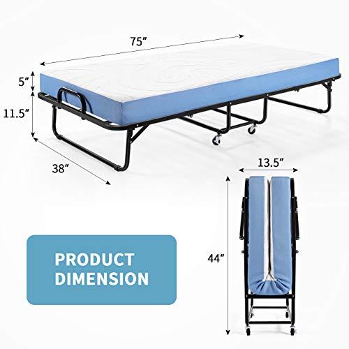Inofia Folding Rollaway Bed-Twin